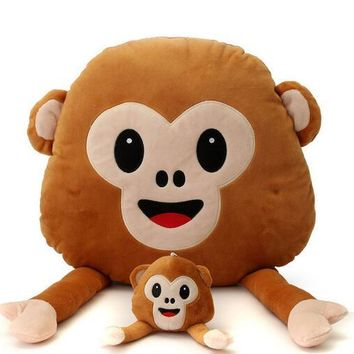 Cute Lovely Soft Monkey Pillow