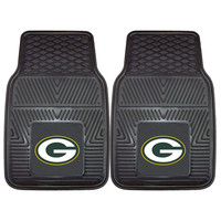 Green Bay Packers NFL Heavy Duty 2-Piece Vinyl Car Mats (18x27)