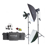 Photography Studio Kit Complete With Photo Lighting - Strobes - Stands & More!