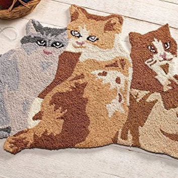 Meow Cool Kitten Cat Pet Shaped Decorative Accent Rug