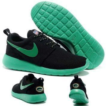 Tagre™ Nike Green Bay Packers London Olympics Black Shoes