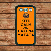 Samsung Galaxy S3 case--keep calm and hakuna matata,in plastic hard case,black or white or clear color