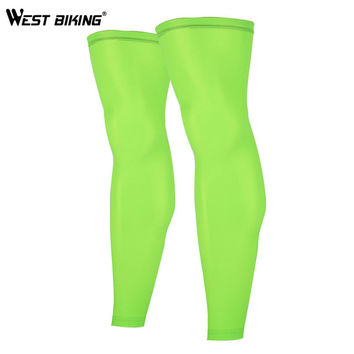 WEST BIKING 2017 New Sport Knee Protector Brace Strap Breathable ANTI-UV Outdoor Basketball Knee Support Pads Cycling Leg Sleeve