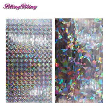 2pcs Galaxy 2pcs Galaxy Holo Nail Tape Holographic Nail Art Sticker Decal Mirror Nail Strips DIY Manicure Adhesive Nail Design