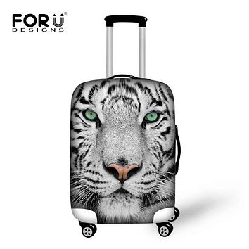 FORUDESIGNS Travel Protective Luggage Cover 3D Lion Zoo Animal Elastic Dust Suitcase Cover For 18-30 Inch Trunk Case With Zipper