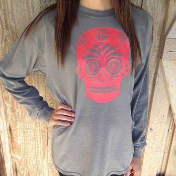 Monogram Vinyl Sugar Skull Shirt