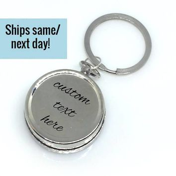 Father's Day Gift, Father's Day, Custom Compass Keychain, Engraved Compass, Custom Compass, Compass Keychain, Engraved Compass, Dad Gift