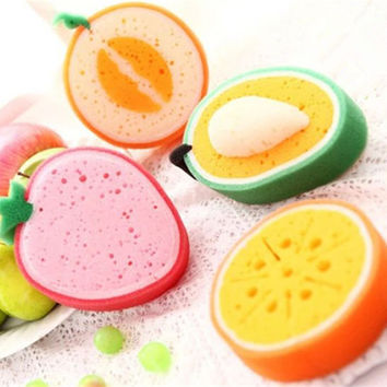 Fresh Fruit Style Thickening Sponge Bowl Cleaner Kitchen Anti-Oil Sponge Eraser