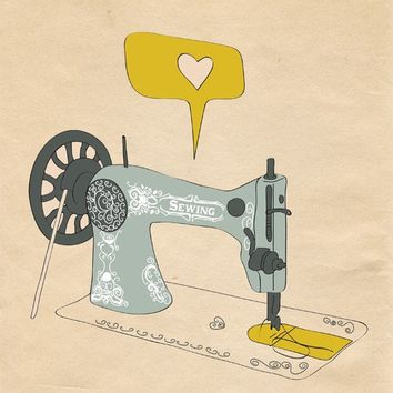 Sewing Machine Print Art I AM SEW CREATIVE 8x10 by ParadaCreations