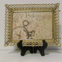 Repurposed OOAK Framed Paris Apartment Tray Vanity Tray