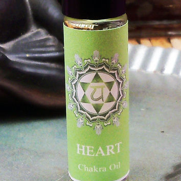 HEART CHAKRA OIL - Clear & Balance Your Heart - Helps with Loss Regret Grief