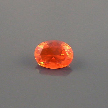 Fire Opal: 0.97ct Red Orange Oval Shape Gemstone, Loose Natural Hand Made Mexican Faceted Precious Gem, Jewelry Gem Casting, Study Stone O24