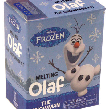 Disney Frozen Melting Olaf Snowman Kit Book Putty Accessories Lot of 2 Gift Girl