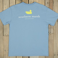 Southern Marsh Authentic Tee- Breaker Blue