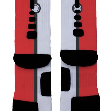 Pokemon Red and White Custom Nike Elite Socks