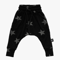 Nununu Star Baggy Pants in Black - NU0714