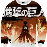 Attack On Titan Sweatshirt. created by KawaiiTillWeDie | Print All Over Me
