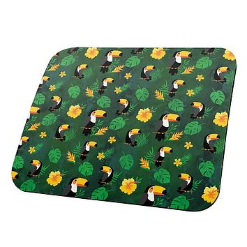 Tropical Toucan Rainforest Repeat Pattern All Over Mouse Pad