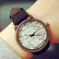 Unisex Vintage Casual Copper Watch Gift - 538