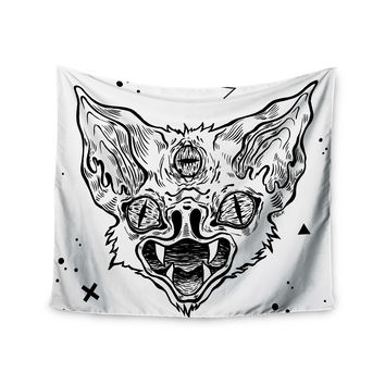 "Anya Volk ""It's Bat"" Black White Wall Tapestry"