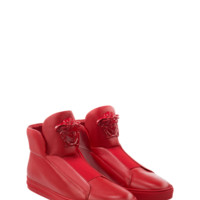 Versace Tonal Palazzo Hi-Top Sneakers for Men | US Online Store