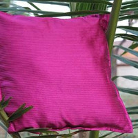 Decorative Magenta Throw Pillow cover Accent Sofa Pillow Home Decor 16 x 16 Pillow Cover Indian Cushion Cover