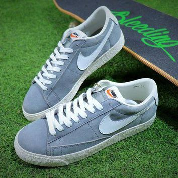 ESBNW6 New Nike Blazer Sb Grey White Plate Shoes