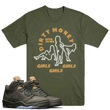 DIRTY MONEY- Jordan Take Flight 5's Sneaker Match T-Shirt Tees