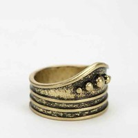 In A Row Thumb Ring- Gold 8