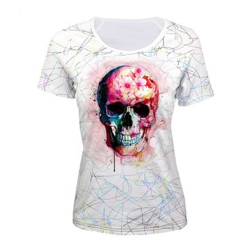 Womens Tops Female Skull and Cross Bones t-shirt