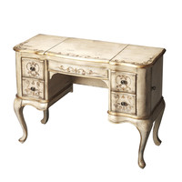Artists' Originals Charlotte Gilted Cream Hand Painted Vanity