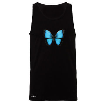 Zexpa Apparel™ Real 3D Morpho Didius Butterfly Men's Jersey Tank Animal Cool Cute Sleeveless