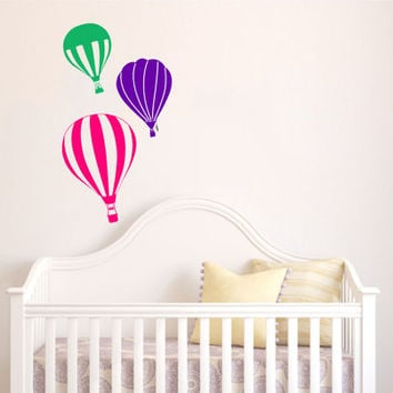 Housewares Hot air Balloons Wall Vinyl Decal Sticker Kids Nursery Baby Room Decor V283