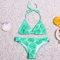 Mesh Hollow Out Swimwear Bathing Suit Bikini