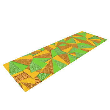 "Danny Ivan ""This Side"" Green Yellow Yoga Mat"