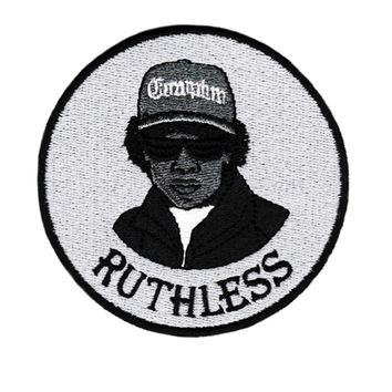 """Cool Eazy E """"Ruthless"""" Iron On Patch 9cm"""