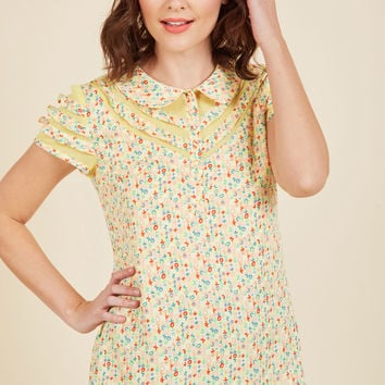 Cater to Your Quirk Top   Mod Retro Vintage Short Sleeve Shirts   ModCloth.com