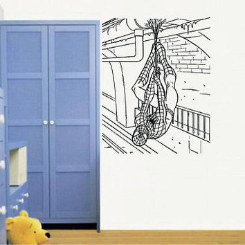 Wall Mural Vinyl Sticker Decal   man web of construction DA1080