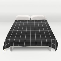 Black White Grid Duvet Cover by Beautiful Homes