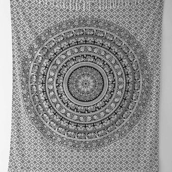 ON SALE Large Indian Mandala Tapestry Hippie Hippy Wall Hanging Throw Bedspread Dorm Tapestry Decorative Wall Hanging , Picnic Beach Sheet C