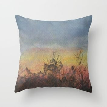 Sunset Outside My Window Throw Pillow by Lindsay