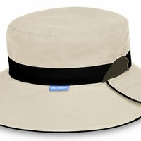 Reversible Resort UV Sun Protection Hat by Wallaroo Hats - Taupe with Black Band:Amazon:Health & Personal Care
