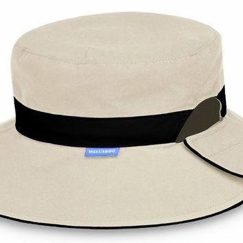 Reversible Resort UV Sun Protection Hat by Wallaroo Hats - Taupe with Black  Band Amazo f33691a15ec