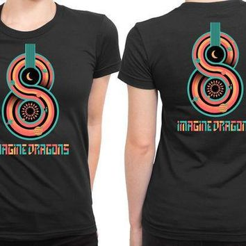 CREYH9S Imagine Dragons Colour 2 Sided Womens T Shirt
