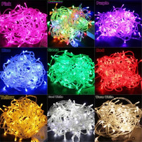 10M 100 LED Bulbs Christmas Fairy Party String Lights Waterproof 9 Colors = 1945964484
