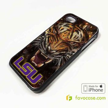 LSU TIGERS Football Louisiana State University iPhone 4/4S 5/5S/SE 5C 6/6S 7 8 Plus X Case Cover