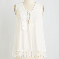 Boho Mid-length Sleeveless First-Rate Flair Top by ModCloth