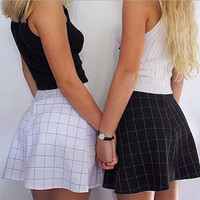 Fashion Plaid High Waist Skirts