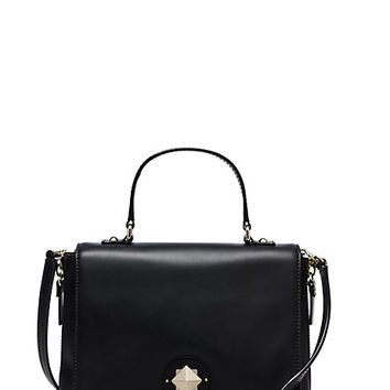 Kate Spade Varick Street Haircalf Small Abbie Black/Leopard ONE