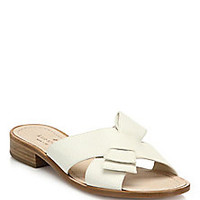 Kate Spade New York - Becky Bow Leather Sandals - Saks Fifth Avenue Mobile